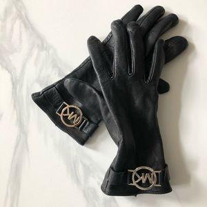 Michael Kors black leather clothes